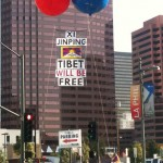 Phayul: Tibetans challenge China's future leader during his visit to Los Angeles