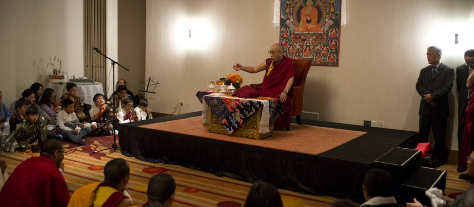 His Holiness the Dalai Lama visit  on  28 February, 2014