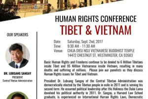 Human Rights Conference on Tibet & Vietnam - President Dr. Lobsang Sangay & Mr. Trinh Hoi